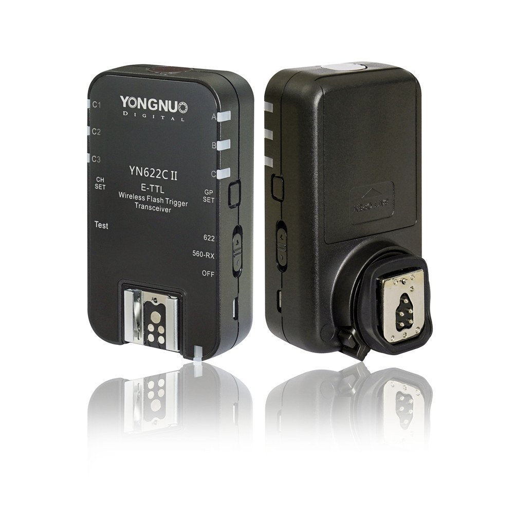 YONGNUO Wireless ETTL Flash Trigger YN622C II with High-Speed Sync HSS 1//8000s for Canon Camera