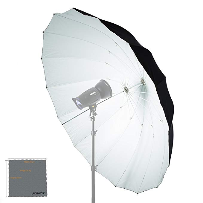 Fomito 7 feet Mega Parabolic Reflector Umbrella White/Black