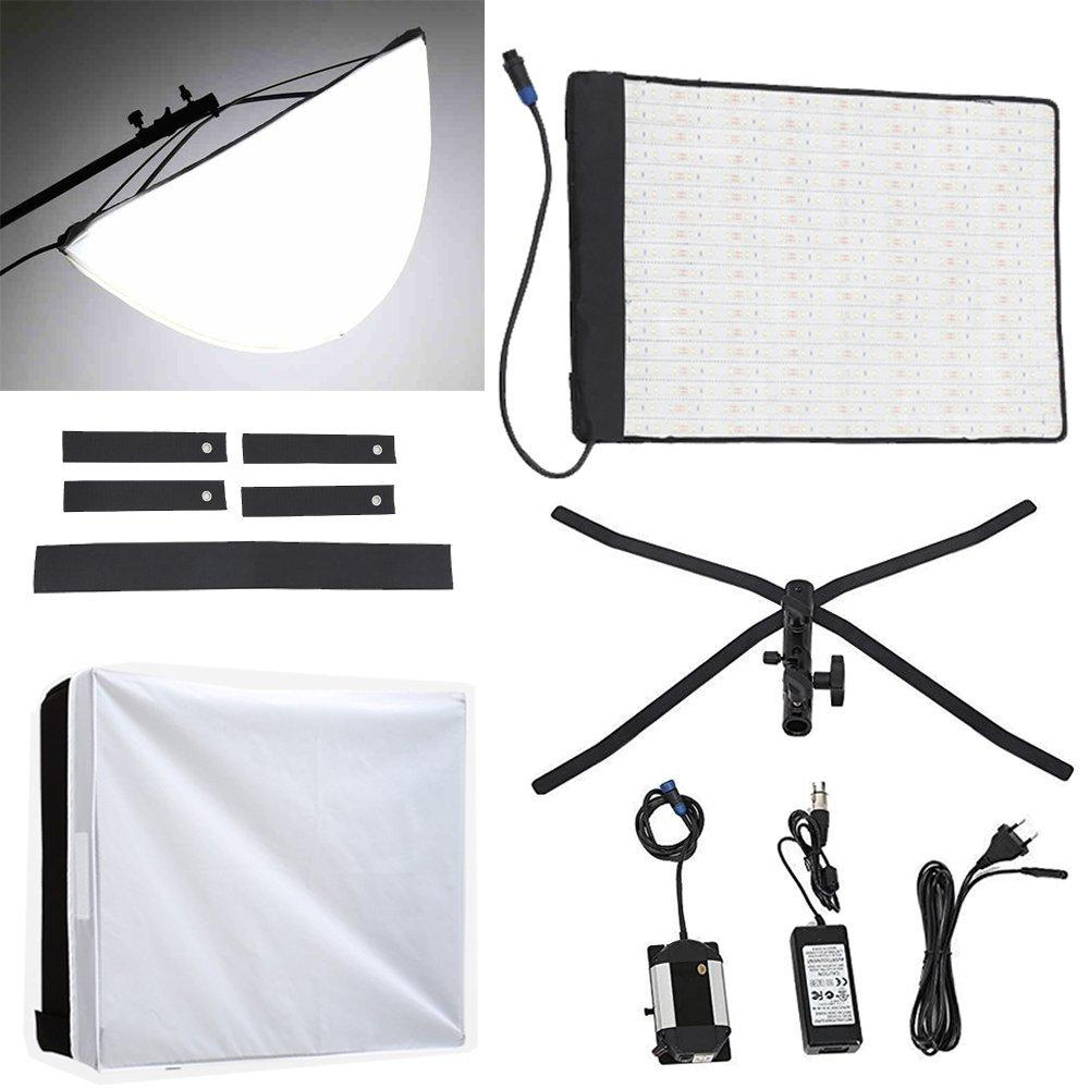 FalconEyes RX-18TD Foldable Roll-Flex LED Light Kit 3000K-5600K + RX-18OB Extended Softbox Diffuser + RX-18SB Standard Diffusor - FOMITO.SHOP