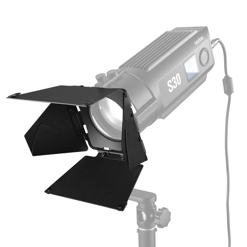 Godox SA-08 8 leaves Barndoor for Godox S30 LED Light