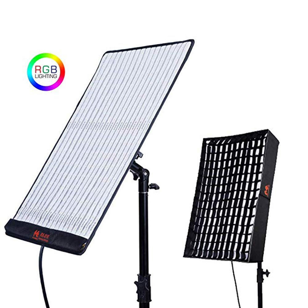 Falcon Eyes RX-818 RGB 100W Output Roll-Flex LED Light Portable Video Light Adjustable Film Light