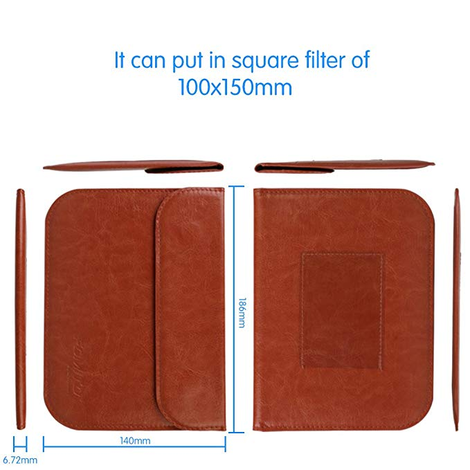 Fomito 1-Pocket Lens Filter Case Bag Pouch for Nisi Hitech Lee Cokin Z Series 100x150mm Filters