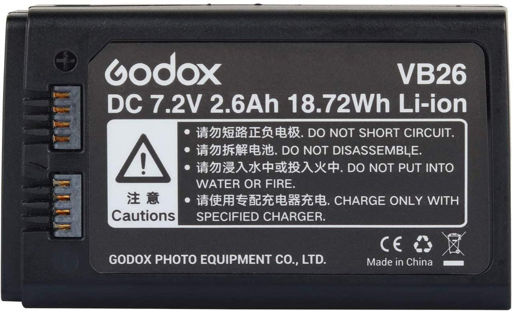 Godox VB26 Panasonic Rechargable Li-ion Battery Pack for V1 Series Flash With Indicator Light