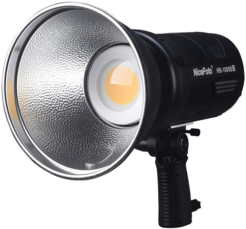 NiceFoto HB-1000B II Daylight COB Battery Bowens Mount LED Video Light with APP Bluetooth Control