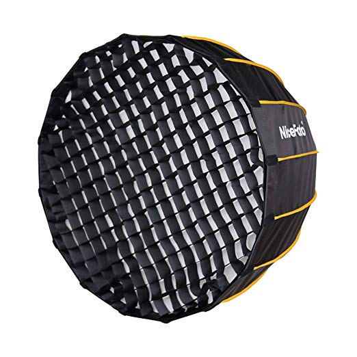 NiceFoto 60cm/70cm/90cm/120cm Quick Set-up Deep Parabolic Softbox with Grid for LED Light