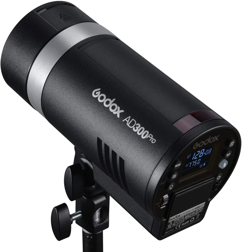 Godox AD300Pro 300W Flashlight Round Head Outdoor Flash with 12W Modeling Light Lithium Battery