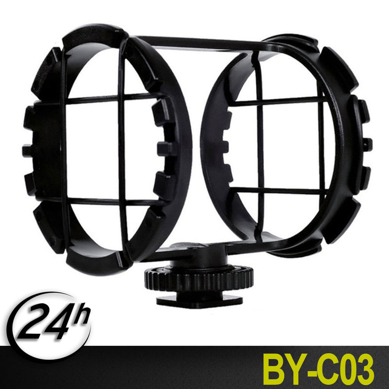 BOYA BY-C03 Professional Shock Mount for Microphone on DSLR Camera Camcorder Zoom H1 Cold Shoe