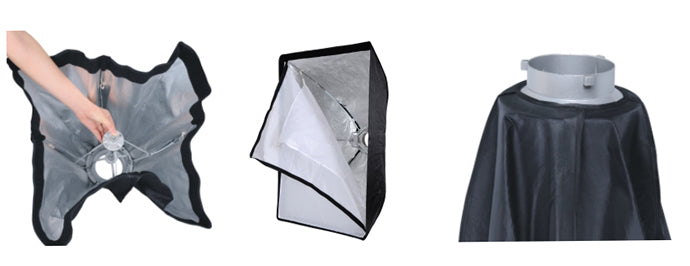 NiceFoto K60*90cm Umbrella Frame Photo Studio Square Softbox For All Strobe Flash Lighting