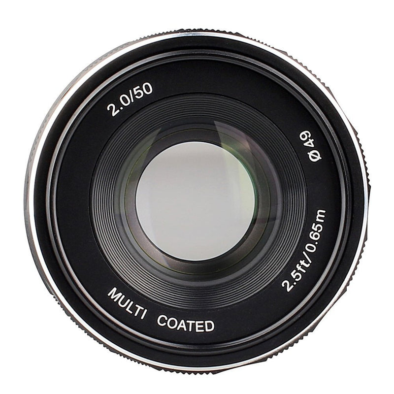 Meike MK-50mm F2.0 Large Aperture Manual Focus Lens for Canon-EF-M EOS M1/M2/M3 - FOMITO.SHOP