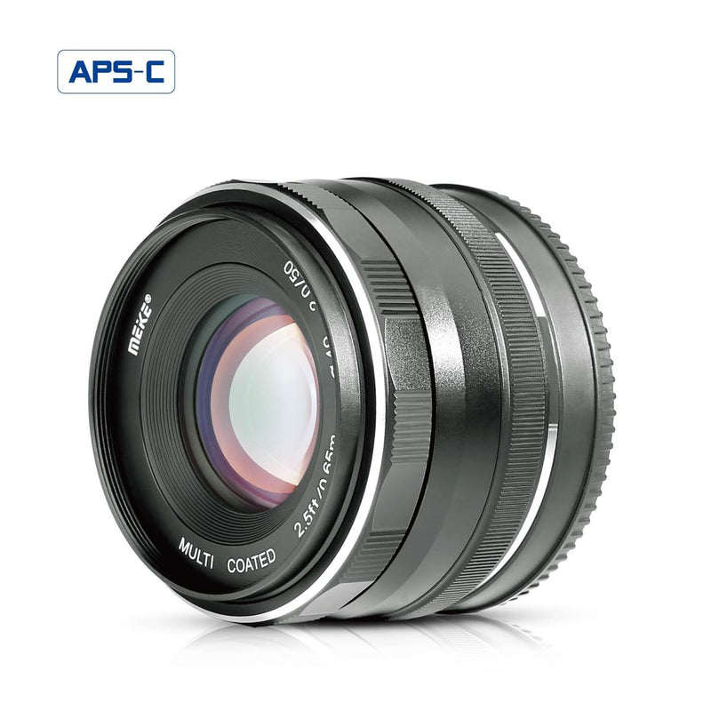 Meike MK-FX-50-2.0 50mm f 2.0 Large Aperture Manual Focus lens APS-C For Fujifilm Mirrorless Camera - FOMITO.SHOP