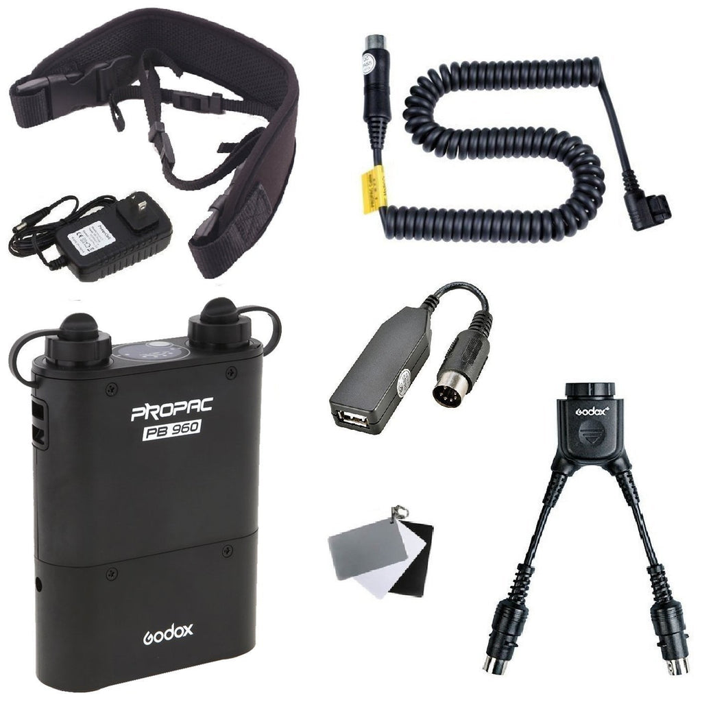Godox PB960 Portable Extended Flash Power Battery Pack Kit Dual Output