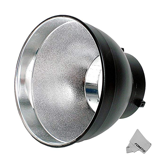 Fomito 55 Degree 7 Inch Standard Reflector Lamp Cover Dish Diffuser for Bowens Mount Studio Flash