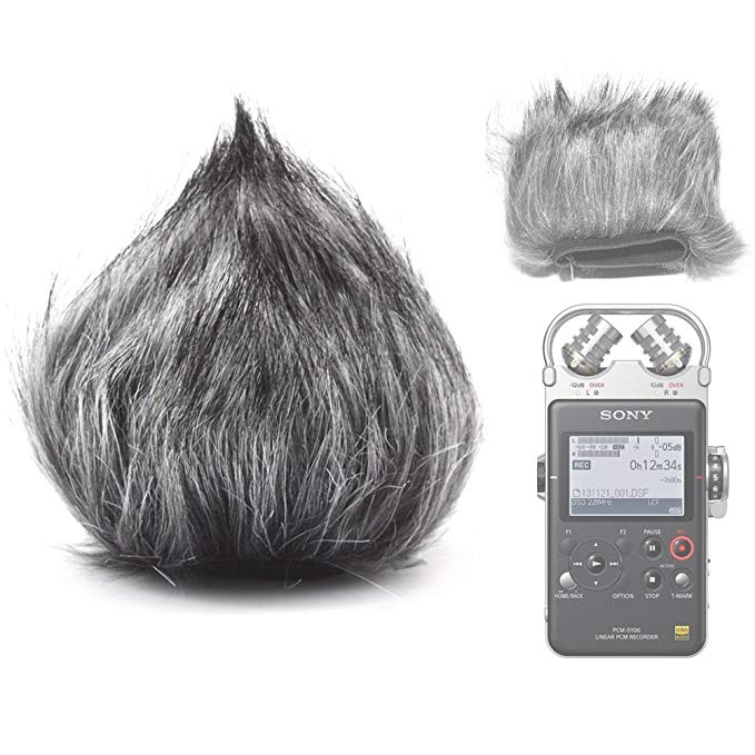 Fomito EN-17 Furry Microphone Windscreen Wind Cover for Sony PCM-D50 PCM-D100
