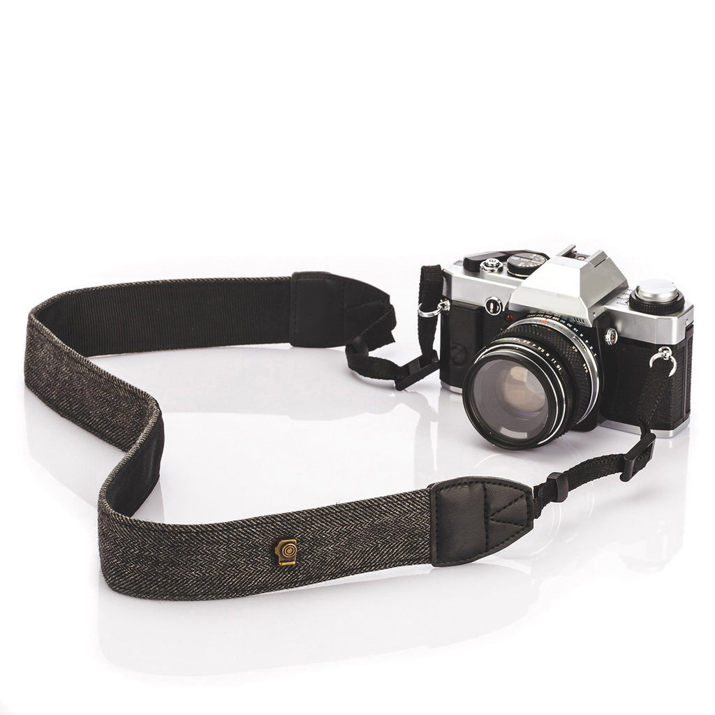 Fomito Camera Shoulder Neck Strap Vintage Belt for All DSLR Camera(Classic White and Black Weave)