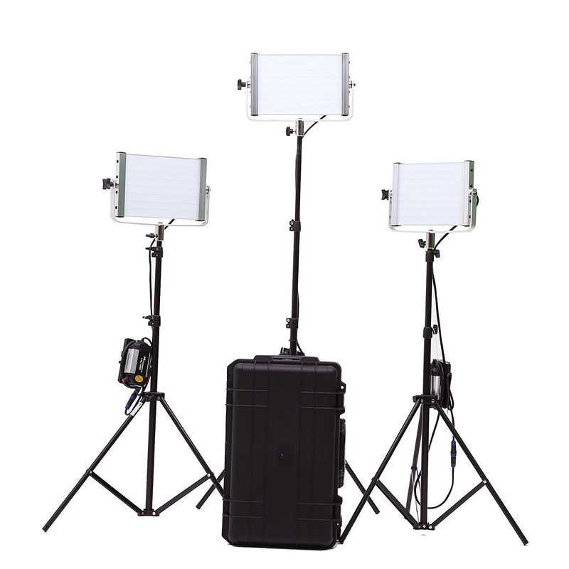 FalconEyes LPL-1602T-K3 Professional LED Light Studio Kit / V-mount for outdoor use - FOMITO.SHOP
