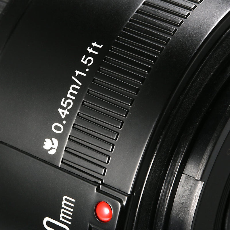 Yongnuo YN 50mm F/1.8 AF/MF Large Aperture Auto Focus Lens for Canon EF Mount EOS Camera - FOMITO.SHOP