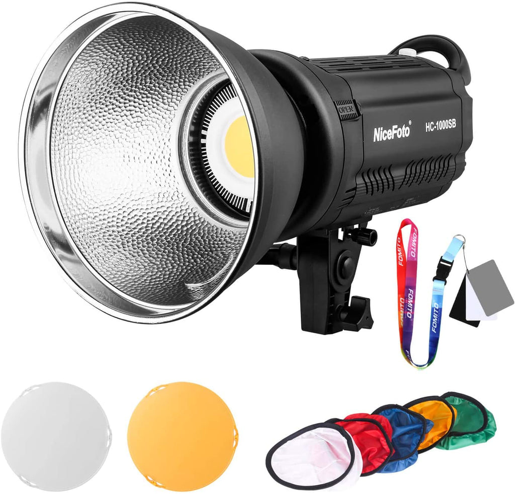 NiceFoto Multiple Scenario Mode LED Video Light HC-1000SB LED Daylight COB with Bowens Mount