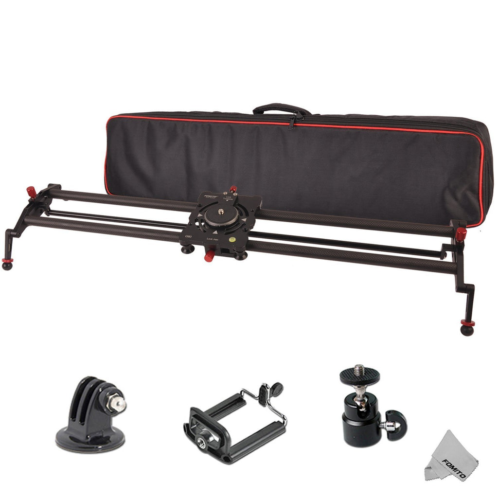 Fomito 32 Inch/ 80cm 8 Axises Carbon Fiber Follow Focus Track Dolly Slider