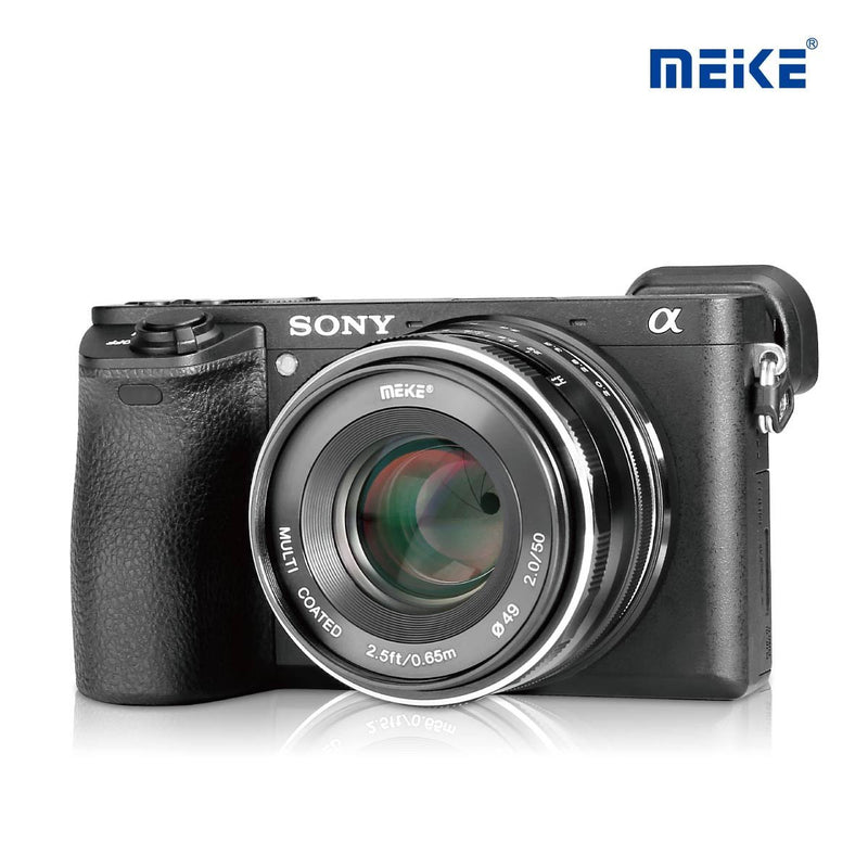 Meike MK-E-50-2.0 50mm f/2.0Fixed Manual Focus Lens for Sony E mount Mirrorless Camera - FOMITO.SHOP
