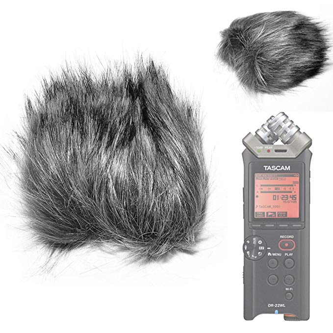 Fomito EN-11 Furry Microphone Windscreen Wind Cover for TASCAM DR-22WL