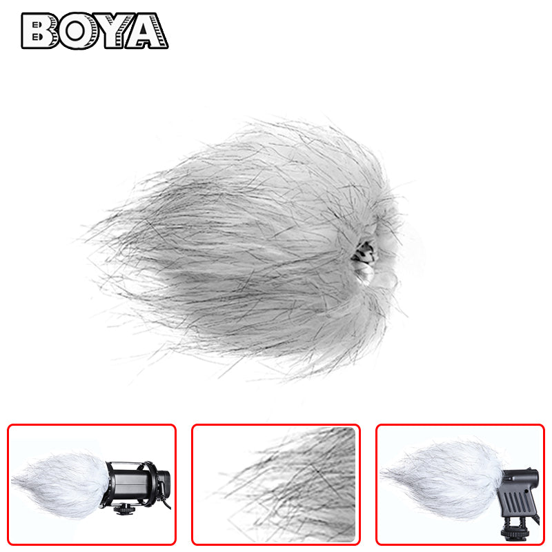 BOYA BY-B01 Fur Windscreen Furry Muff for VM01 V03 VM300PS Microphone Greatly reduces wind noise Suitable for Boya BY-VM01, BY-V03, BY-VM300P.