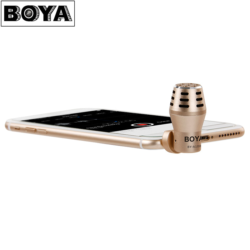 BOYA BY-A100 Mini Microphone 3.5mm Omnidirectional Electret Condenser for Video Audio Recording