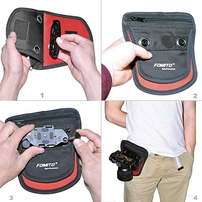 Fomito Camera Clip Pad + Rain Cover Black for Capture Camera Clip