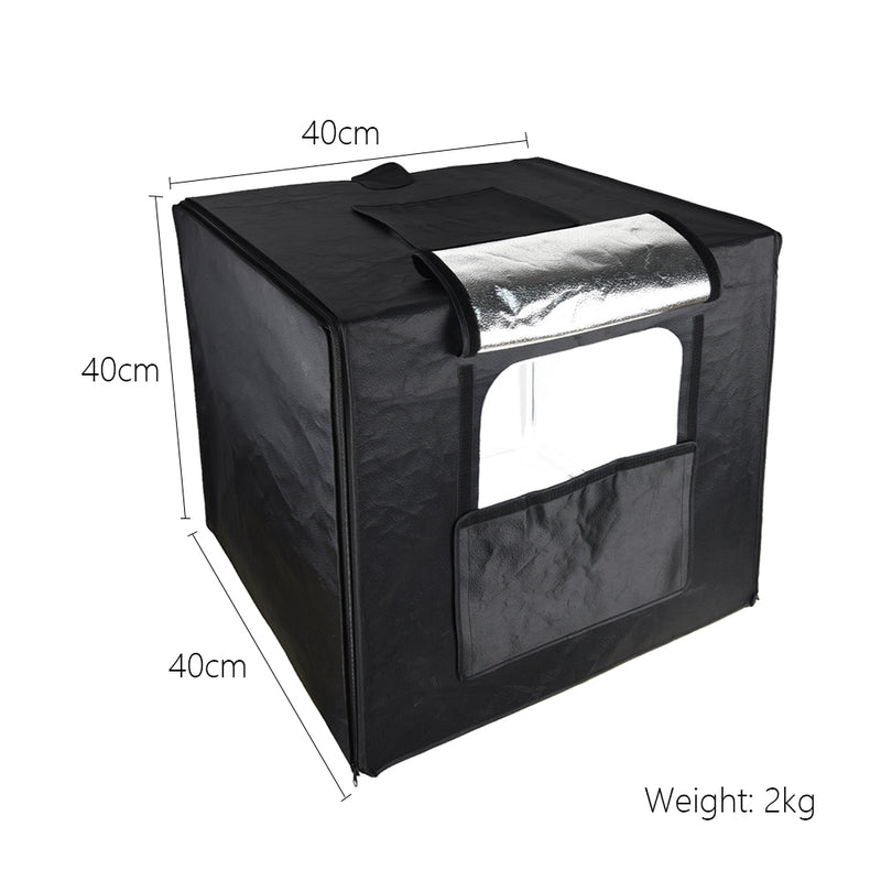 Godox LSD40 40*40cm 40W Portable Foldable Mini LED Photography Studio Shooting Tent Softbox with PVC Backgrounds + Carry Bag for Shooting Product