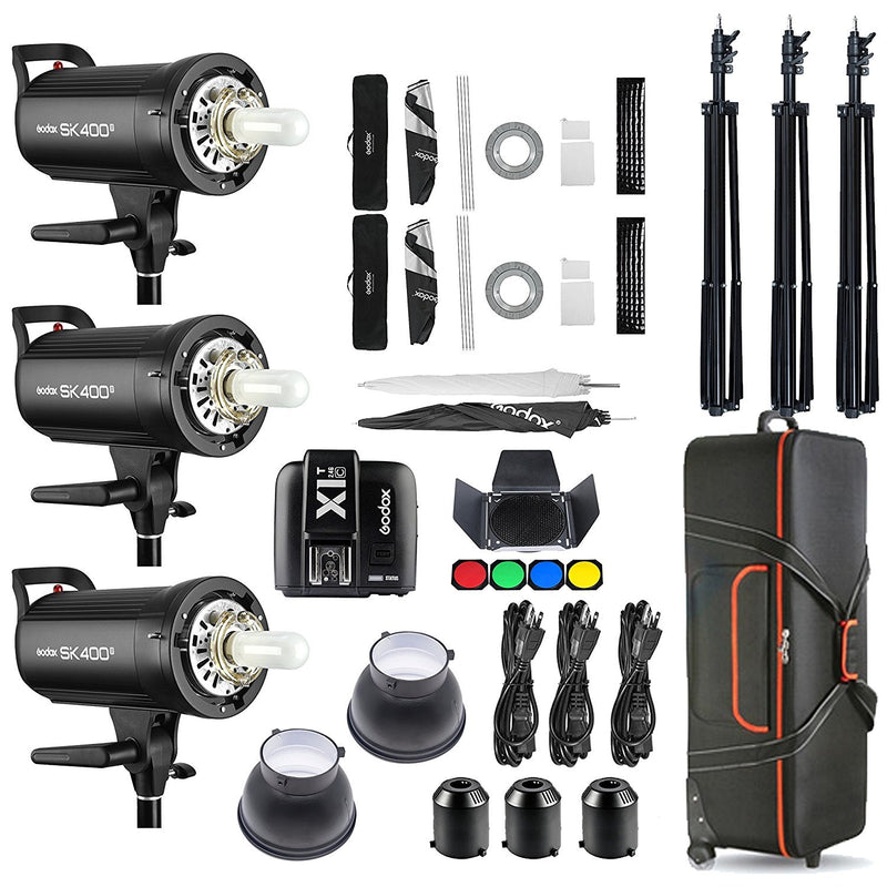 Godox SK400II 3 x 400Ws 2.4G Strobe Flash Kits for Canon EOS