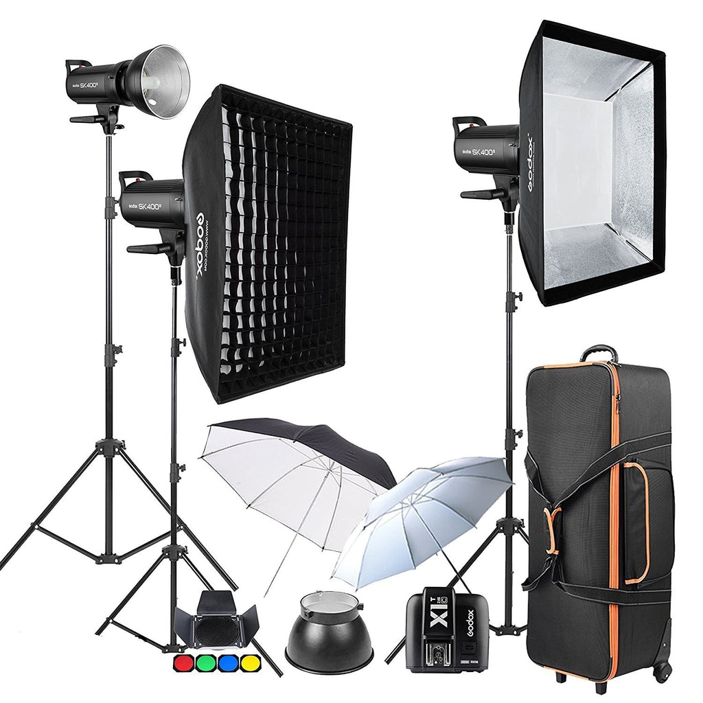 Godox SK400II 3 x 400Ws 2.4G Strobe Flash Kits for Canon EOS - FOMITO.SHOP