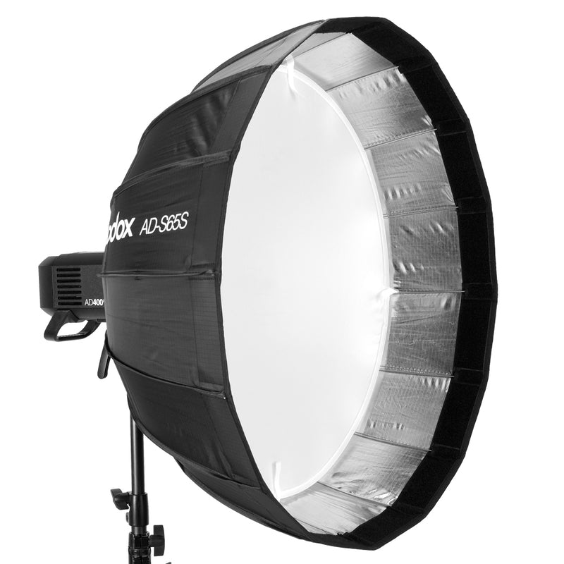 Godox 65cm AD-S65S Softbox Inside Silver Deep Parabolic Softbox with Grid for AD400PRO AD300Pro