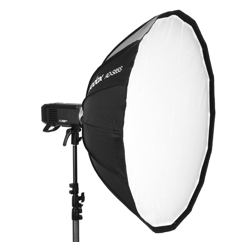 Godox Deep Parabolic Softbox AD-S85S 85cm Specialized Accessories with Honeycomb Grid for Godox AD400Pro Flash Silver Interior