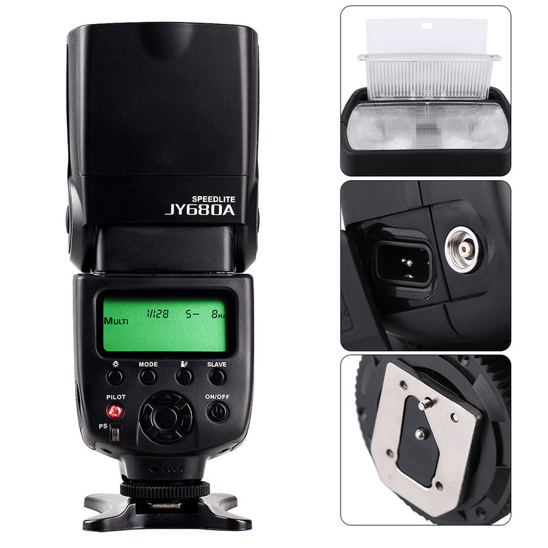 Viltrox JY680A On-camera Flash GN33 Speedlite Flash Light with LCD Screen for Canon Nikon Sony Pentax DSLR Camera