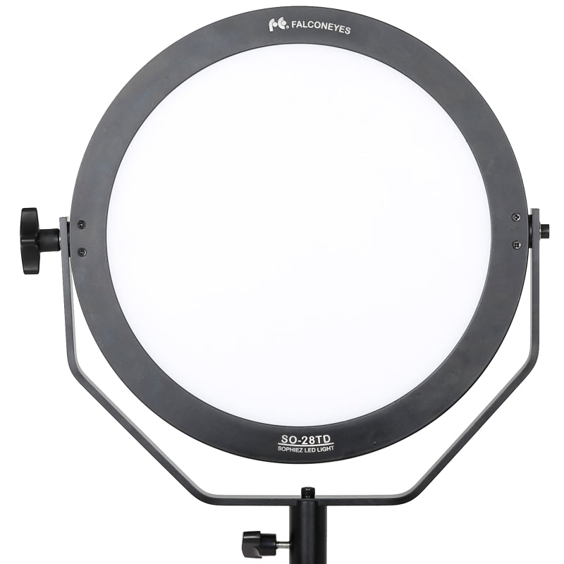 Falcon Eyes 28W SO-28TD 3000-5600K Dimmable LED Panel Lamp Round Soft LED Video Light for Film Advertisement Shooting Photography