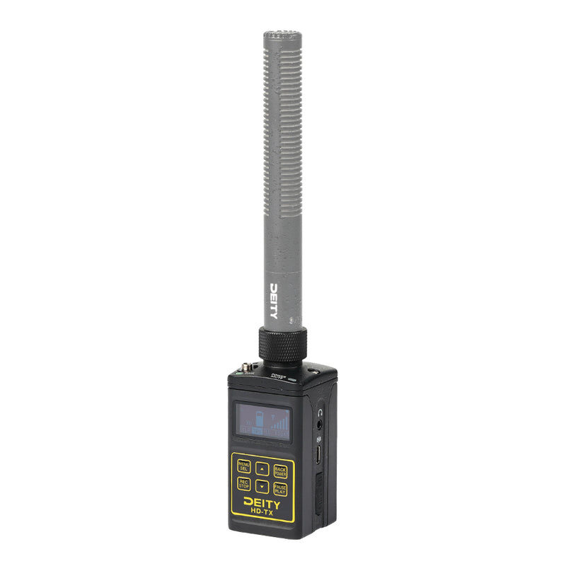 Deity HD-TX Recorder Microphone Live Audio Monitoring Low Inherent Self-Noise with Holster