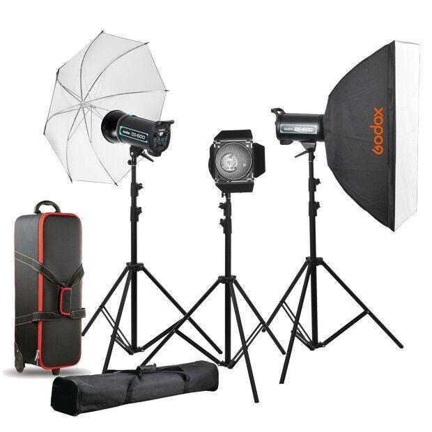 QS-1800watts Softbox / Umbrella / Case / Barndoor Kit - FOMITO.SHOP