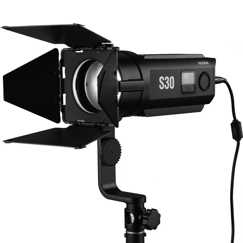 Godox S30-D Three-light Kit Fresnel Focusing LED Spotlight 30W 3×heads Kit