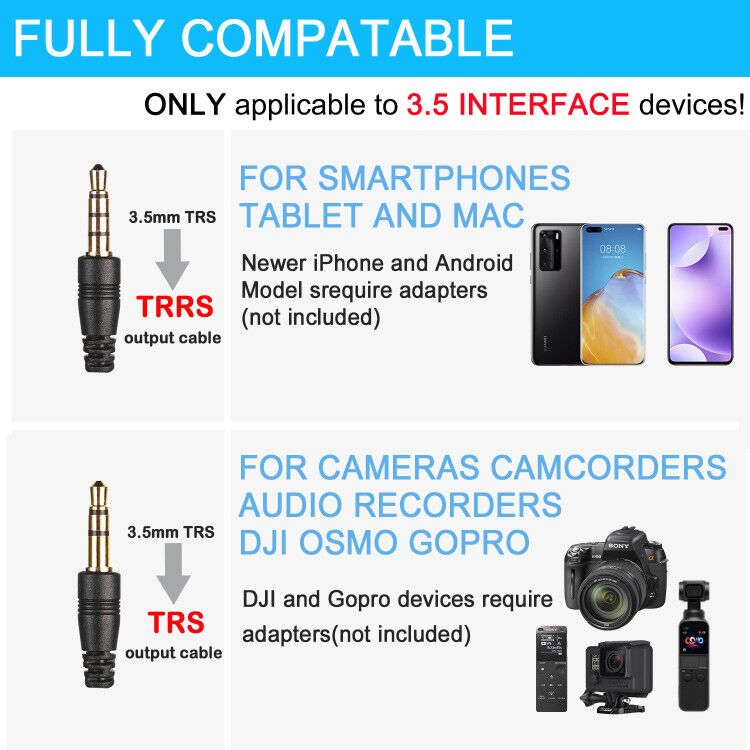 FOMITO MICMOV V-1 Universal Cardioid Microphone Compatible with 3.5mm Interface Smartphones Camera