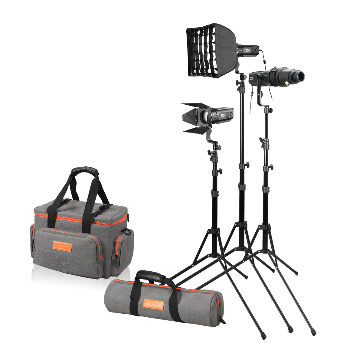 Headshot Interviewing Portrait and Still Life Photography Godox S30 Focusing LED Light 30W Spotlight Creates Superior Light Effects for Pre-Wedding Photography Video Lighting