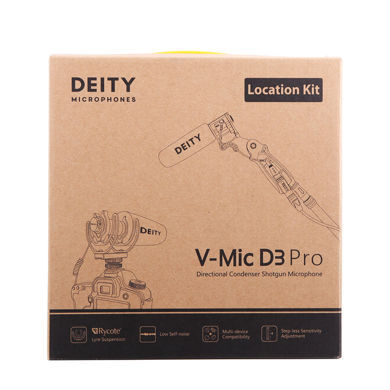 Deity V-mic D3 Pro & Kit Super-Cardioid Directional Microphone with Cold Shoe Rycote Shockmount