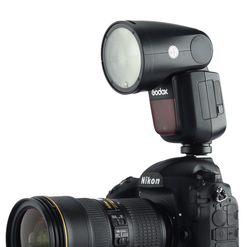 In stock!Godox V1 Nikon TTL On-Camera Round Flash Speedlight for Nikon
