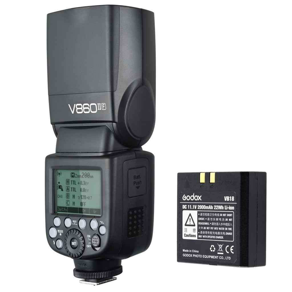 Godox V860IIF 2.4G GN60 TTL HSS 1/8000s Li-on Battery Camera Flash for fuji camera