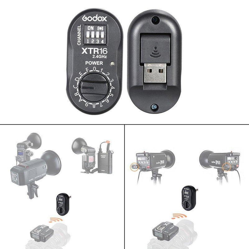 Godox 2.4G Wireless XTR-16 Remote Control Flash Receiver - FOMITO.SHOP
