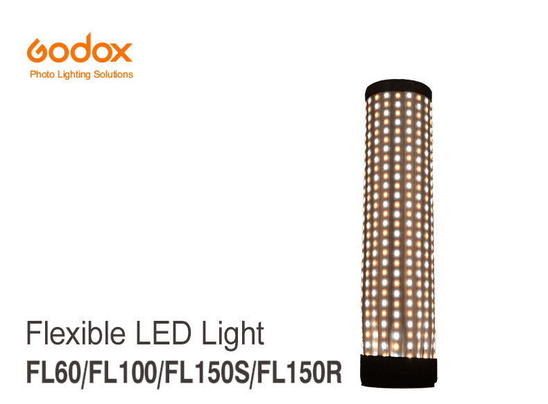 Godox FL60 60W Flexible LED Video Light Rollable Cloth Lamp with Controller + Remote Control + X-shape Support +Mobile APP