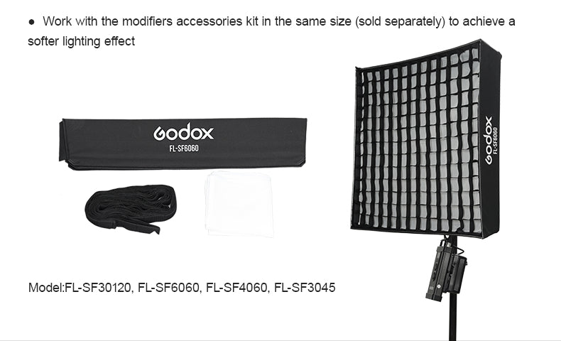 Godox Rollable Flexible LED Light FL60/FL100/FL150S/FL150R with Controller+Remote Control+Support