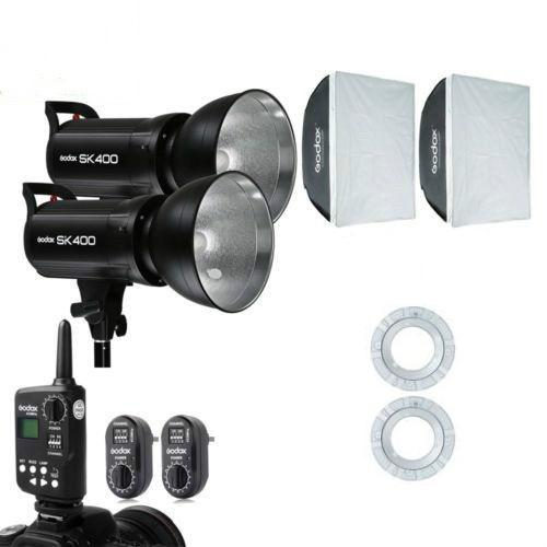 Godox 800w 2x SK400 Studio Strobe Flash Light Bowen Mount Softbox Kit For Wedding - FOMITO.SHOP