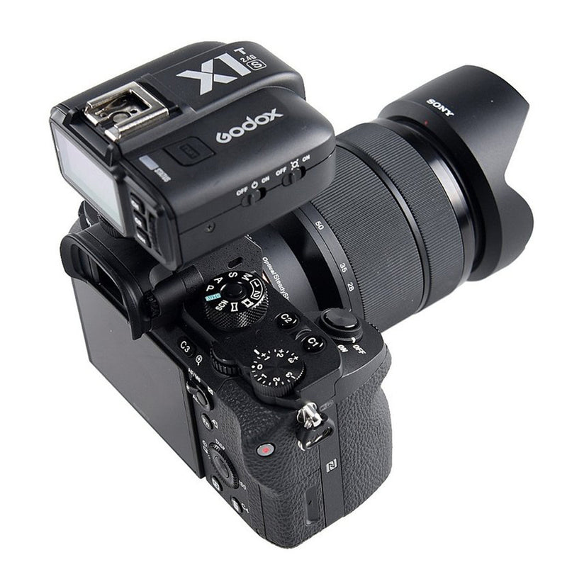 Godox X1S Hot Shoe Sync Terminal 2.4 GHz Wireless Flash Trigger TTL for Sony Camera 32 Channels Max Sync Speed 1/8000 Second