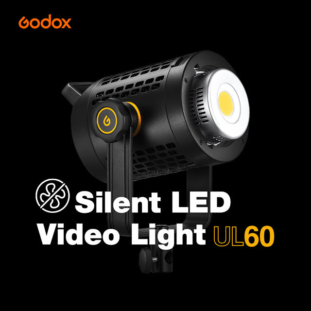 Pre-order! Godox UL60 Silent LED Video Light Daylight-balanced 60W Bowens Mount For Sound Recording