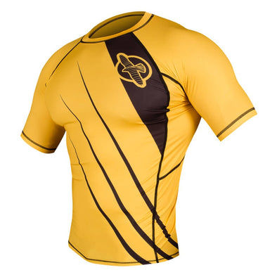 Hayabusa Recast Rashguard Short Sleeve - Yellow / Black