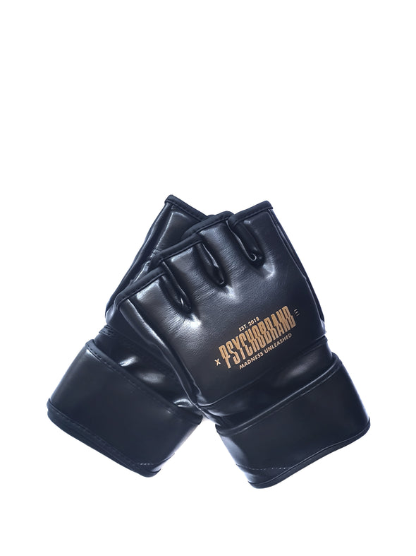PSYCHOBRAND MMA GLOVES - BLACK&BROWN
